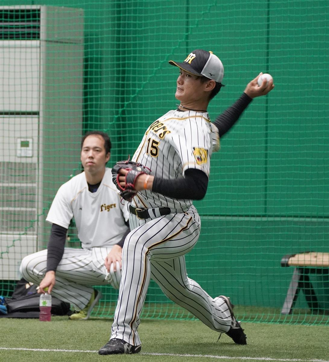 阪神・矢野監督、西純は「どれだけバッターに向かっていけるか」