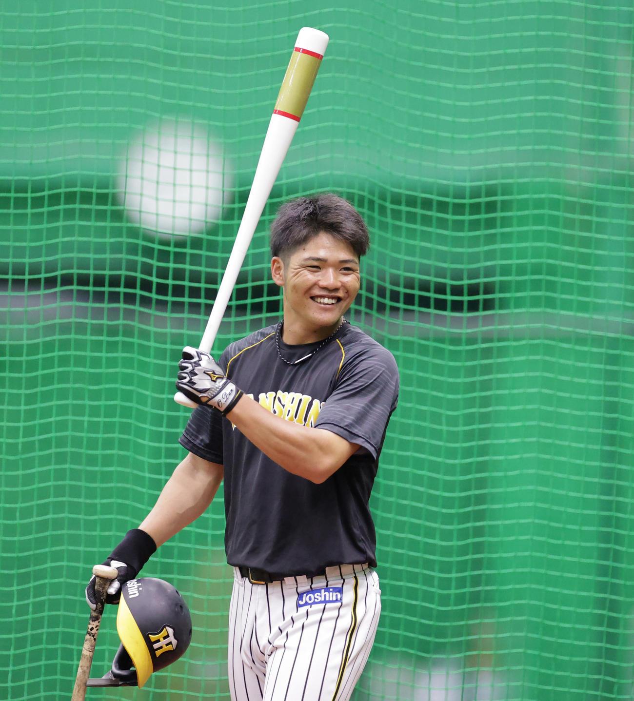 2軍首位打者、阪神小野寺 大山バットで打率上昇「1軍に必要な戦力に」