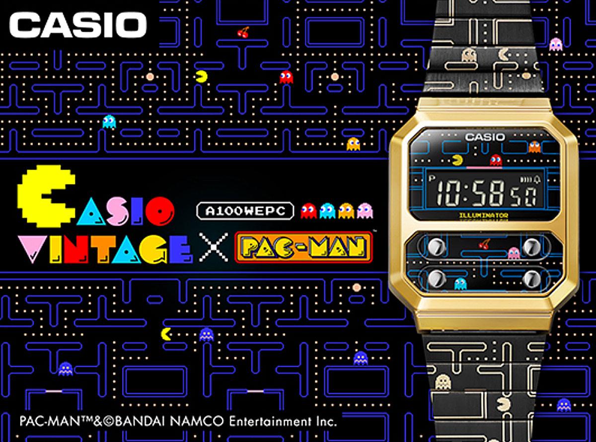 [ITmedia ビジネスオンライン] カシオ、「パックマン」とコラボした腕時計を発売 レトロなゲーム画面を再現