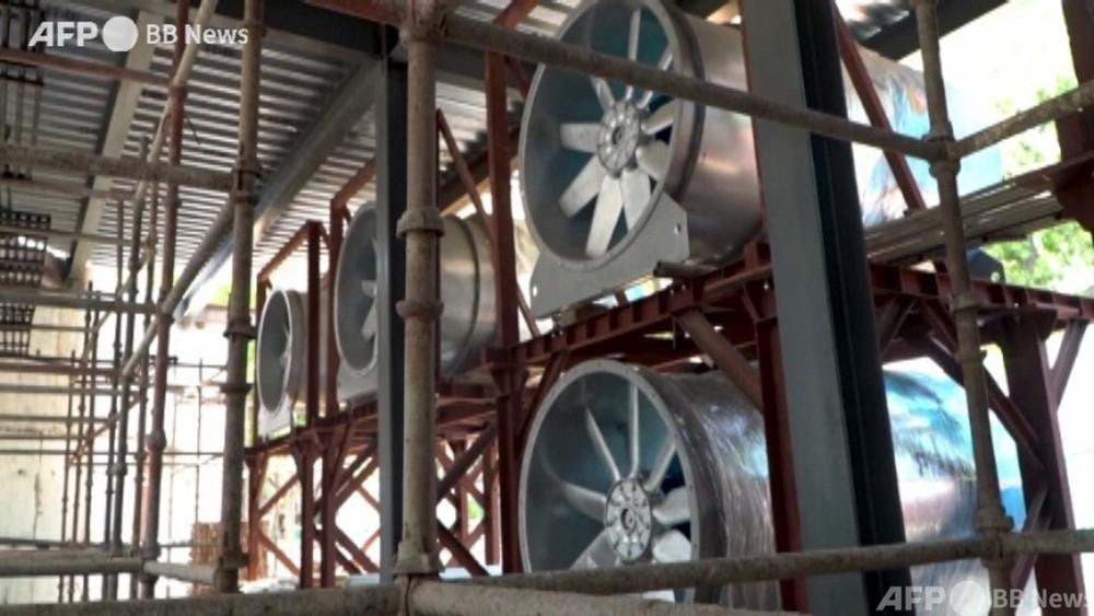 動画:大型送風機40台できれいな空気を都心にお届け インド首都