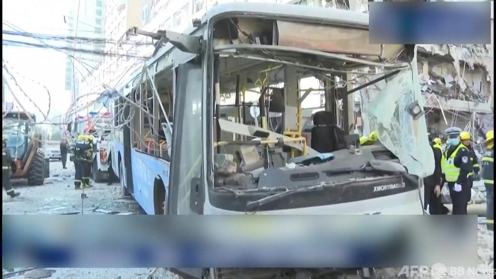 動画:中国の飲食店でガス爆発 4人死亡、47人負傷 爆発の瞬間捉えた映像